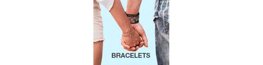 Bracelets gourmettes pour femme en acier cuir pas cher | ROIDUBIJOU