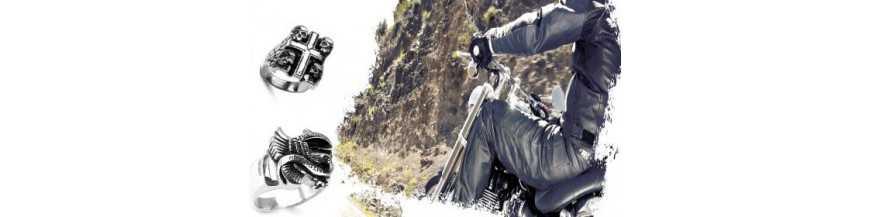 Bagues bikers pour homme et bagues tête de mort homme   ROIDUBIJOU