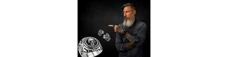 Boucles d'oreilles biker homme